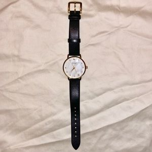KATE SPADE | black, gold, and pearl watch
